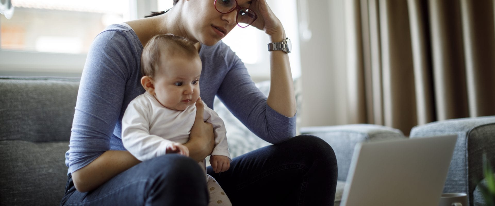 Postpartum depression is more than the baby blues.
